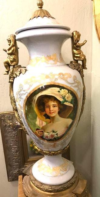 Porcelain 24k Gold Gilded Vase