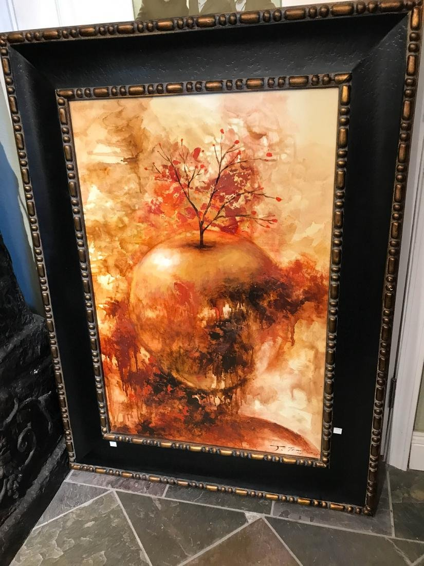 Oil on Canvas Painting of Abstract Apple