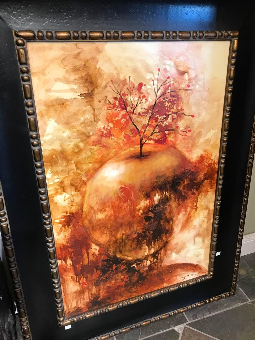 Oil on Canvas Painting of Abstract Apple - 2