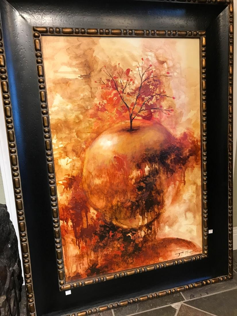 Oil on Canvas Painting of Abstract Apple - 7