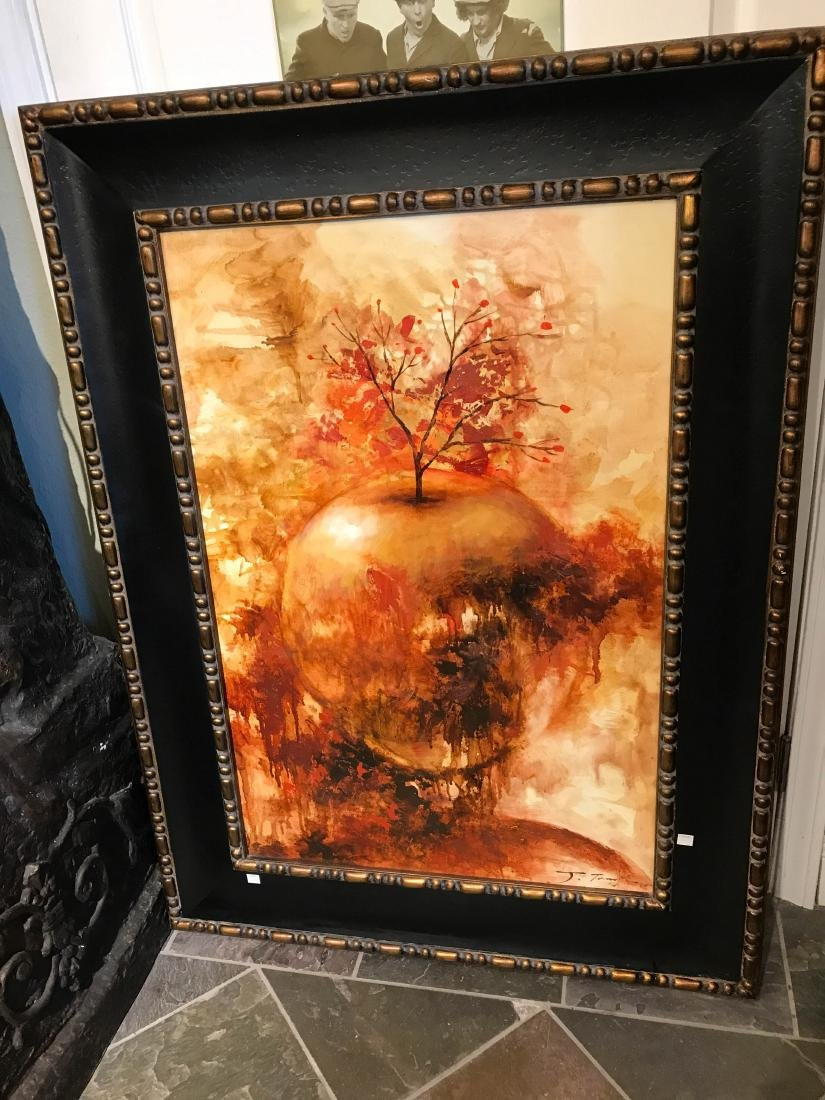 Oil on Canvas Painting of Abstract Apple - 8