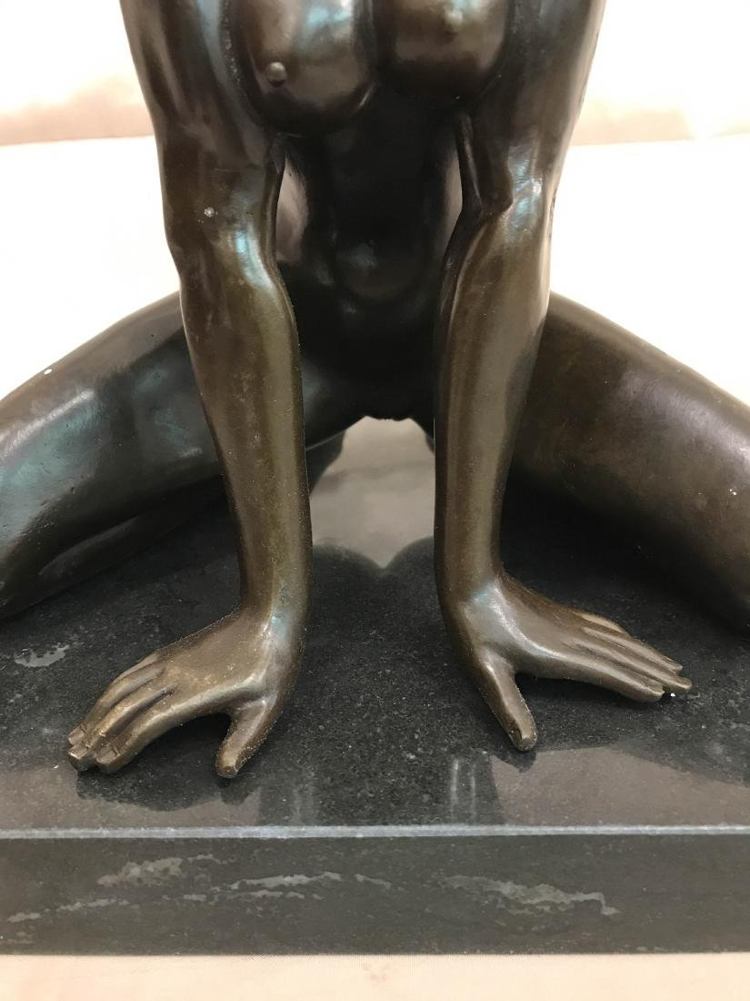 Bronze Statue of Nude Woman on Knees - 3