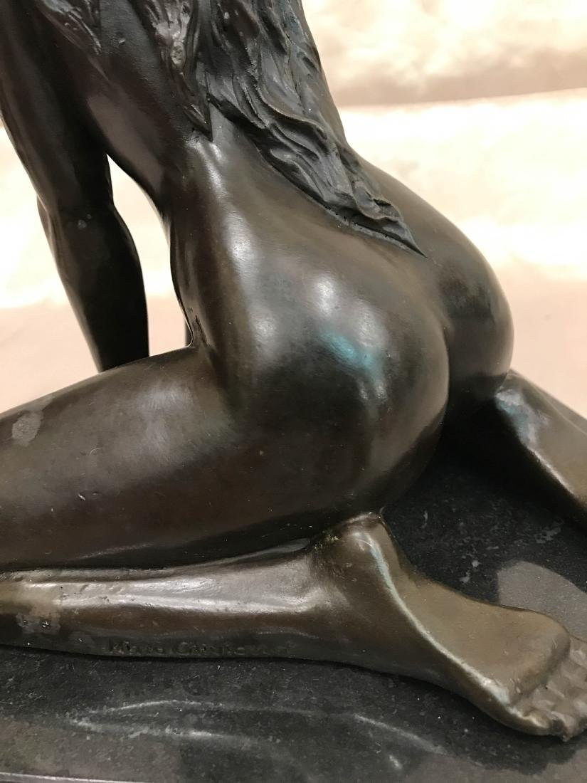 Bronze Statue of Nude Woman on Knees - 4