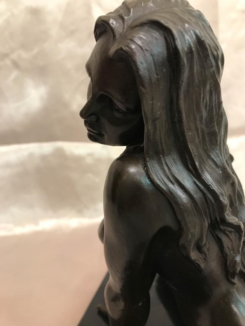 Bronze Statue of Nude Woman on Knees - 5