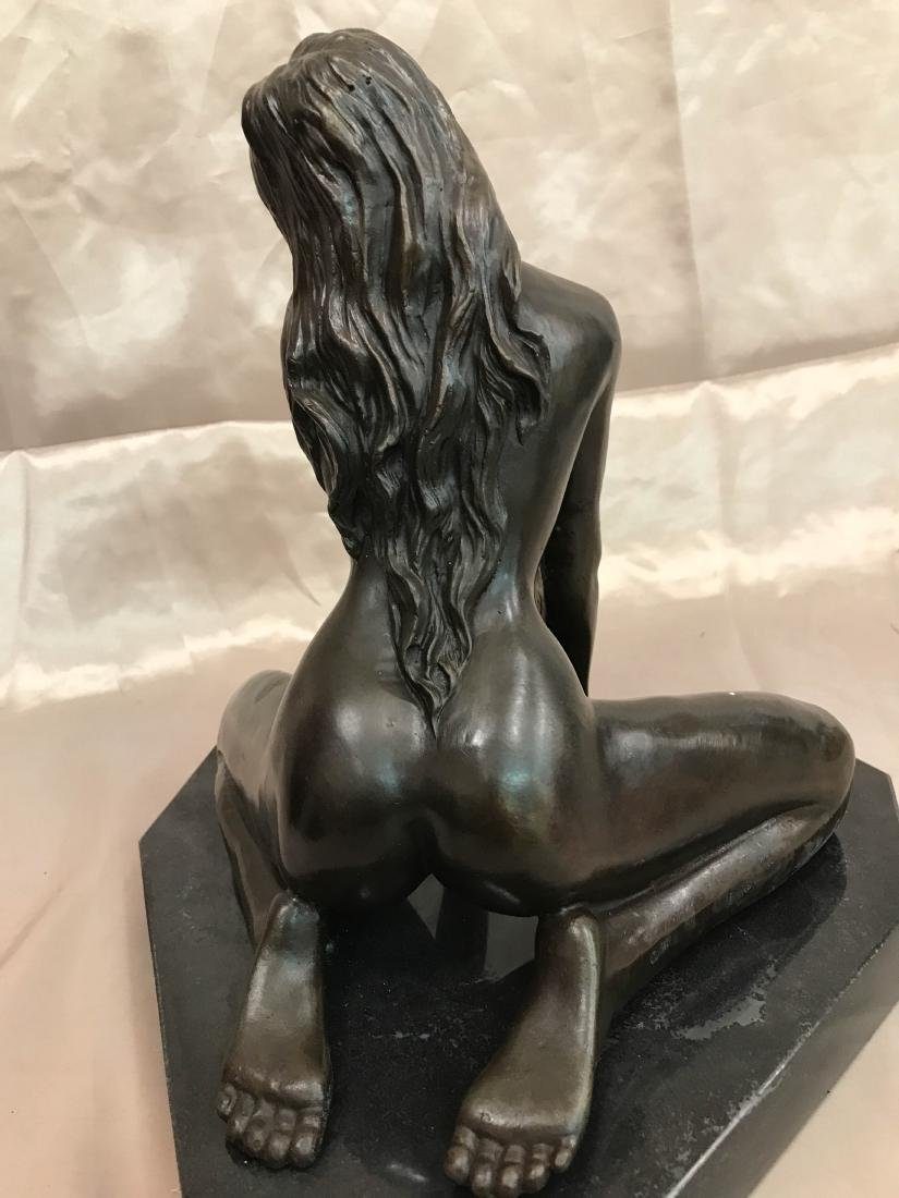 Bronze Statue of Nude Woman on Knees - 6