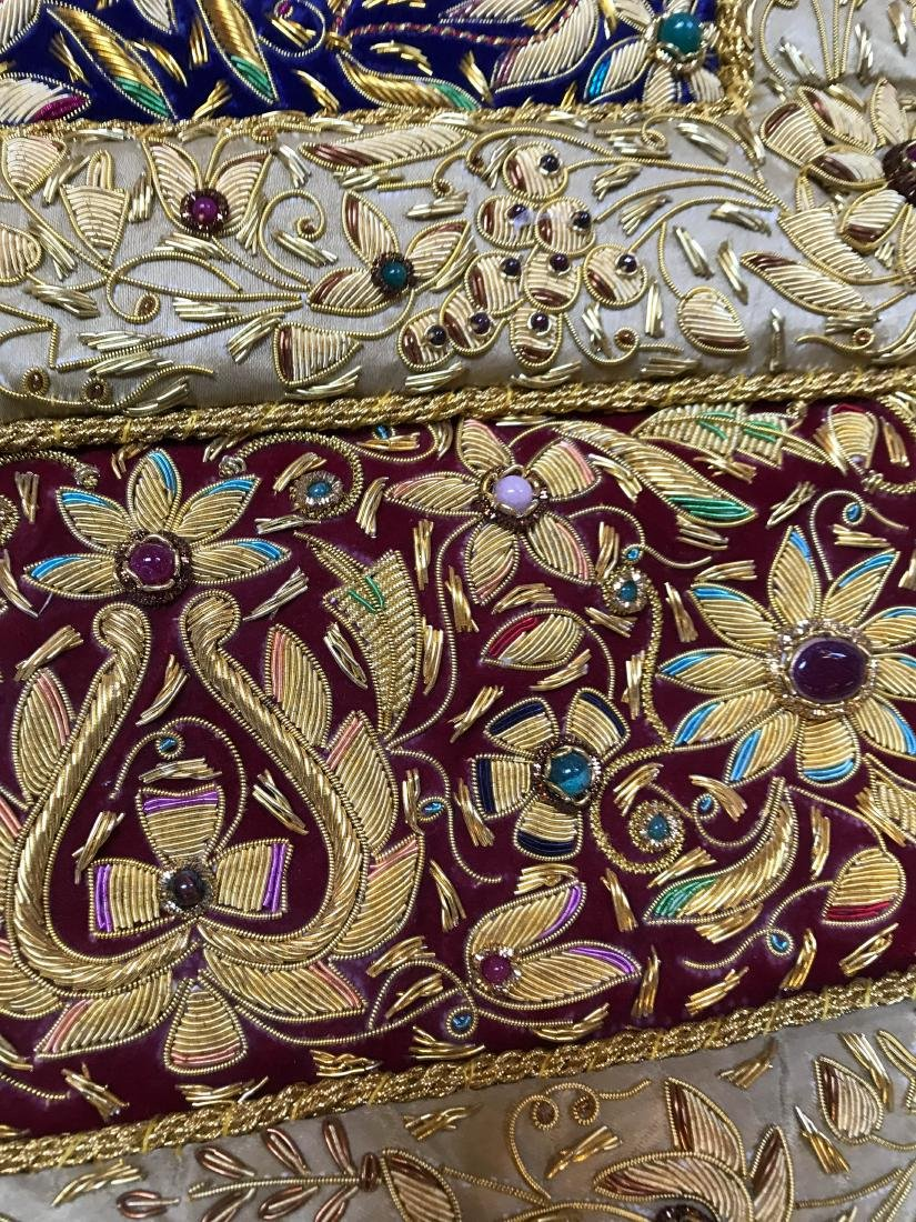 Magnificent Hand-Woven 24k Gold and Gemstone Tapestry - 10