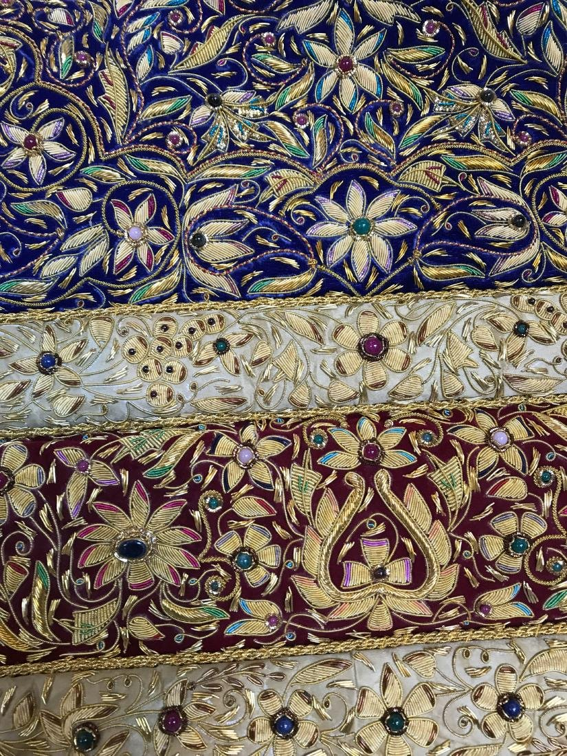 Magnificent Hand-Woven 24k Gold and Gemstone Tapestry - 4