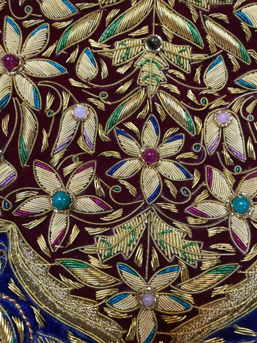 Magnificent Hand-Woven 24k Gold and Gemstone Tapestry - 7