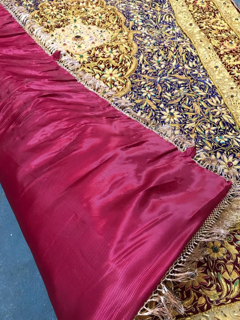 Magnificent Hand-Woven 24k Gold and Gemstone Tapestry - 8