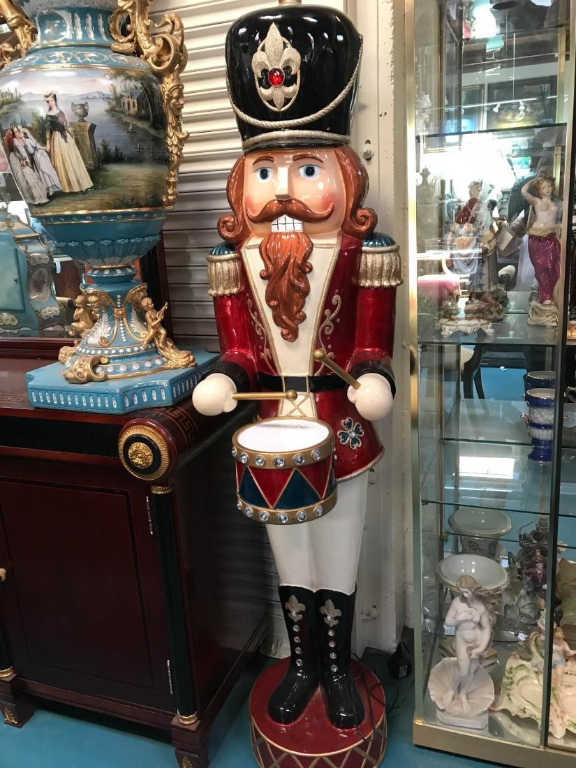 Large Wooden Animated Nutcracker w/ Moving Hands