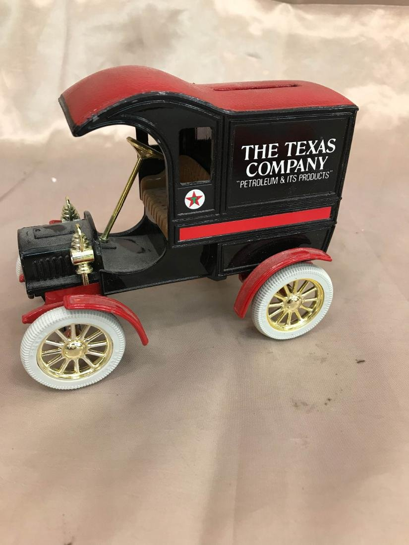 """The Texas Company"" Petroleum Cast Iron Car Bank"