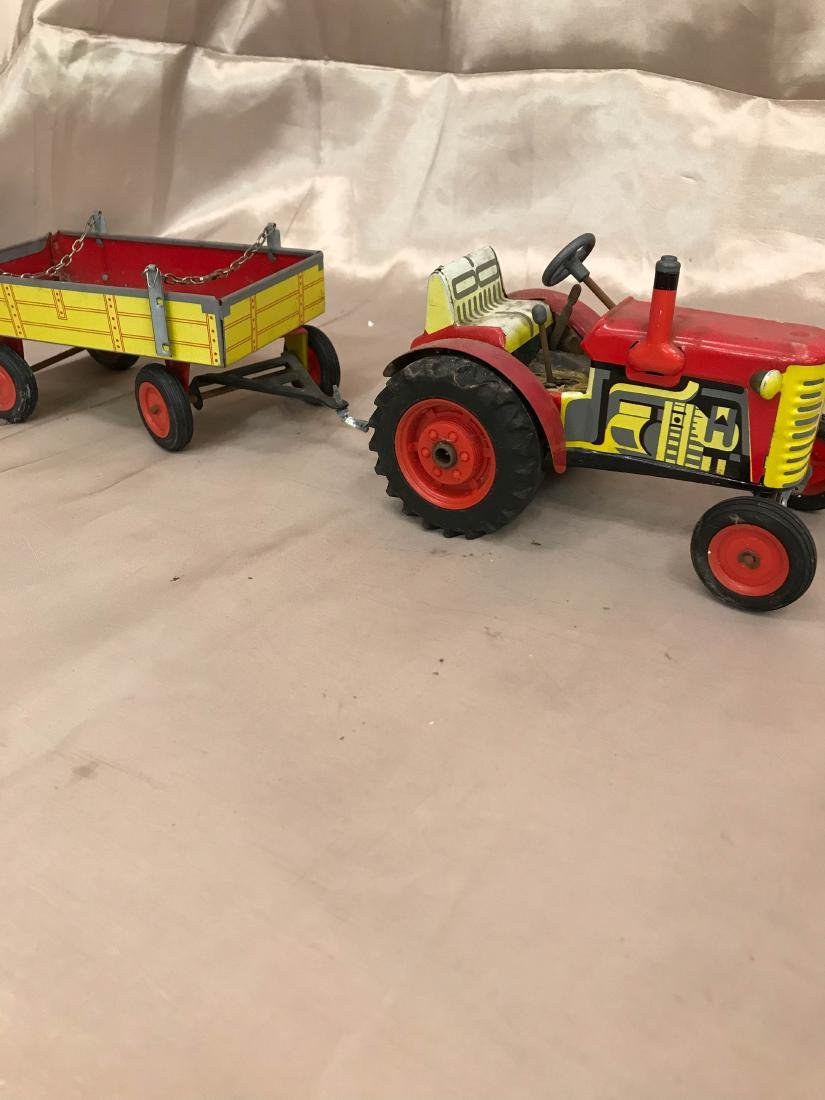 Antique Tractor with Wagon Toy