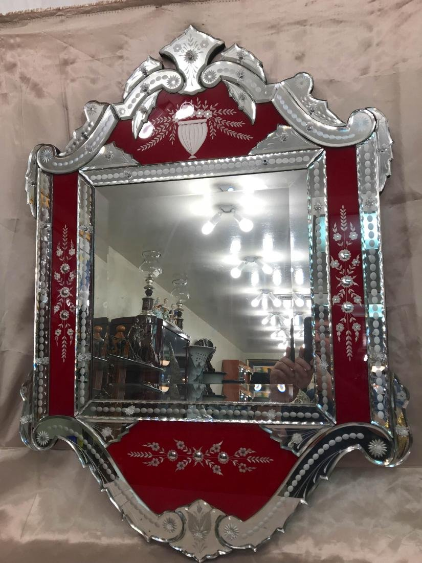 Spectacular Venetian Beveled Mirror