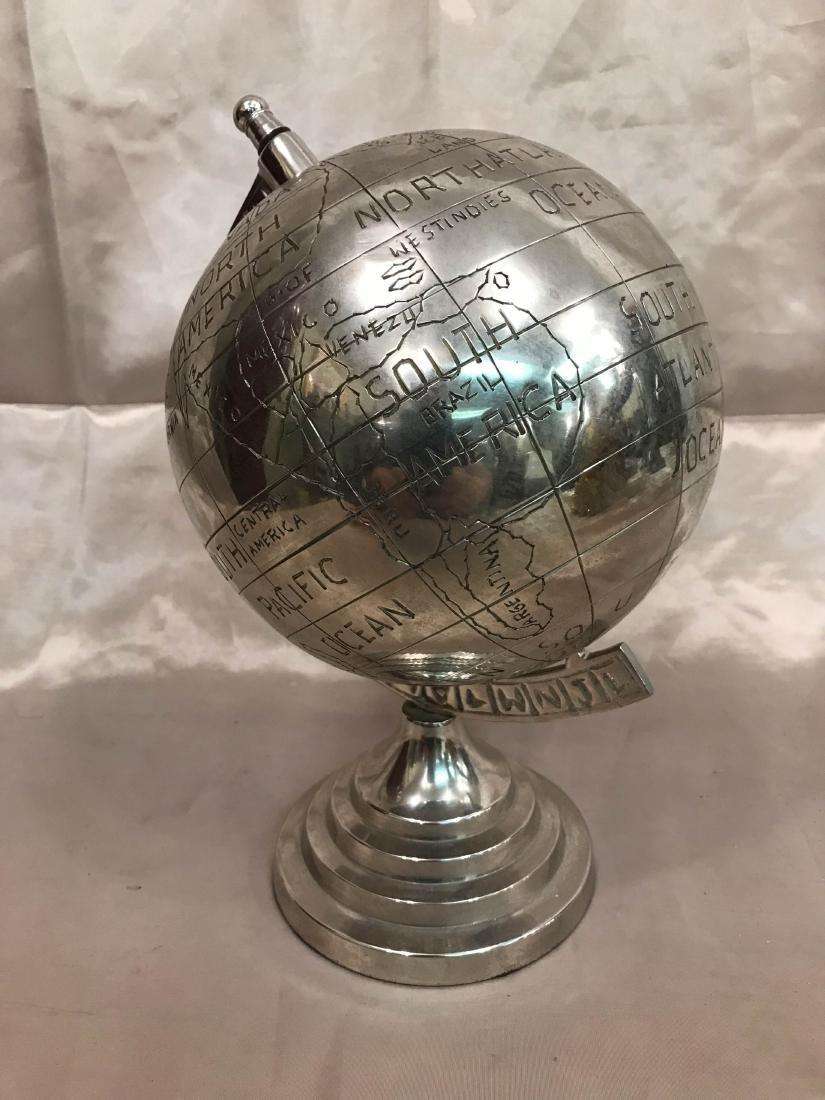 Silver Plated Bronze Globe
