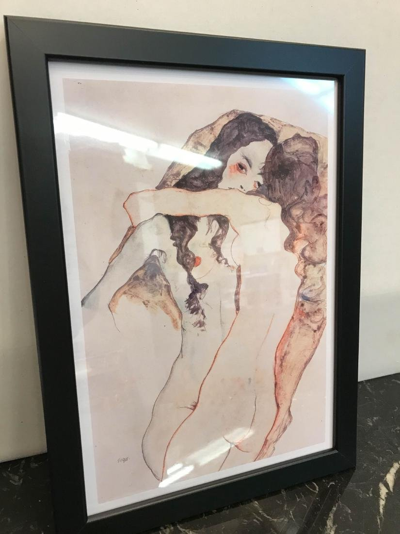 Erotic Watercolor Print of Two Nude Women - 5