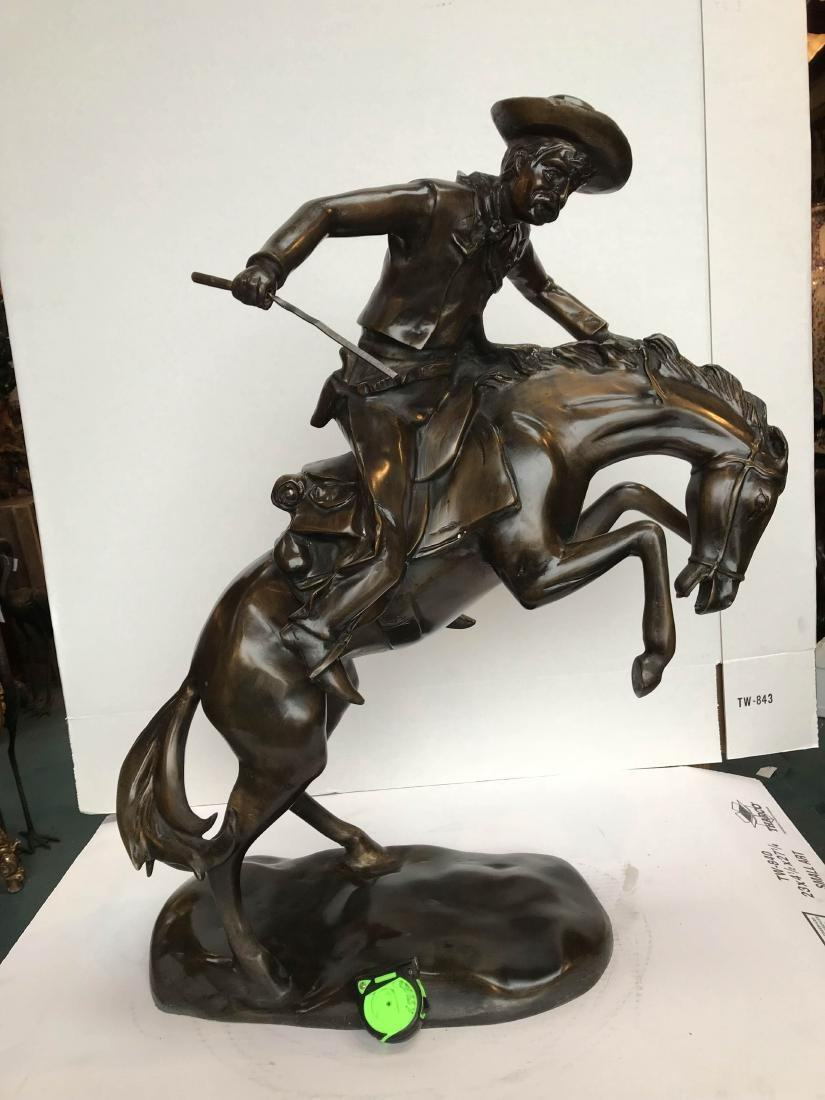 Bronze Statue of Cowboy on Horse - 6