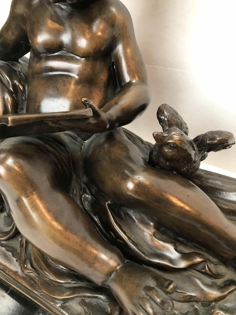 Bronze Statue of a Child Reading a Book - 3