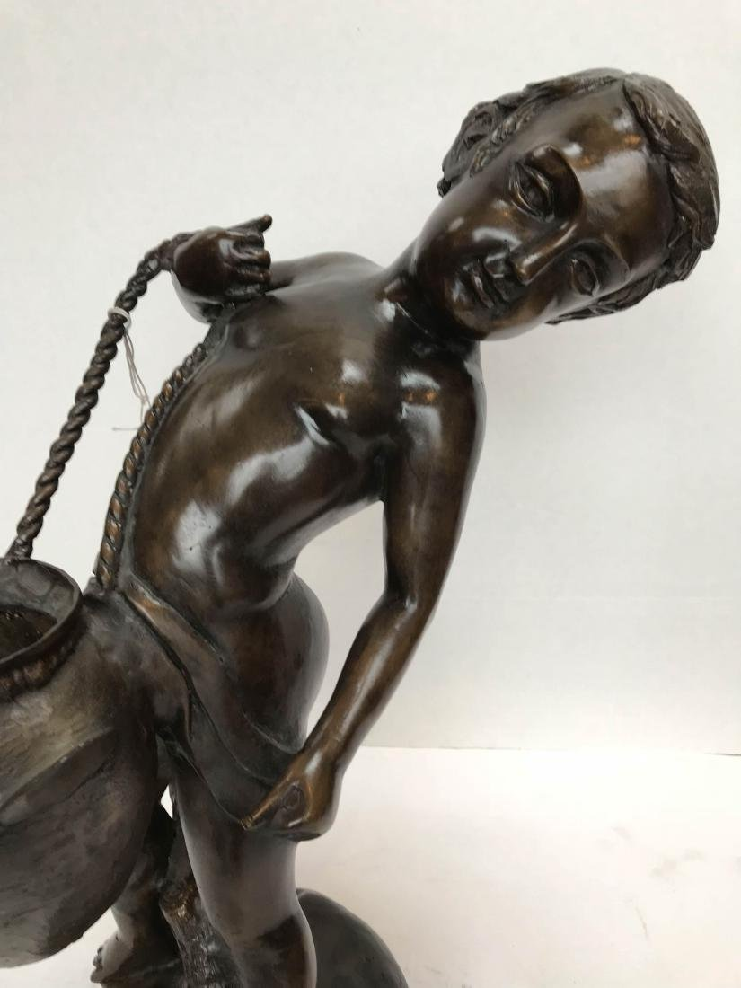 Bronze Statue of Boy Carrying a Water Pitcher - 2