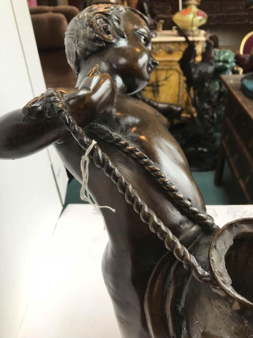 Bronze Statue of Boy Carrying a Water Pitcher - 5