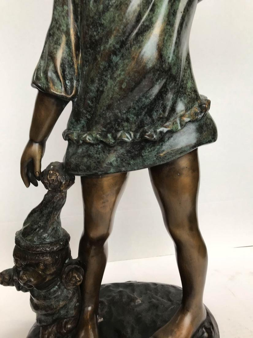 Bronze Statue of a Girl Yawning w/ Teddy Bear - 4