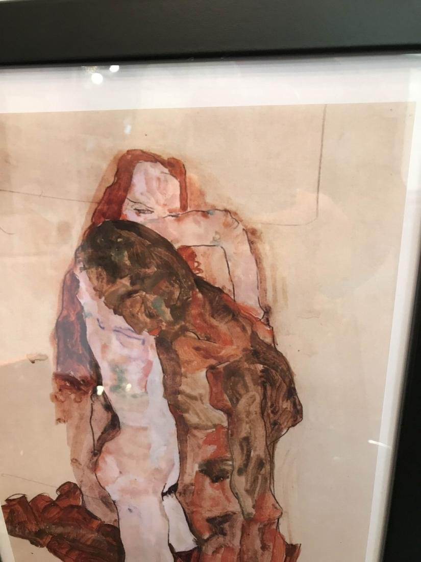 Erotic Watercolor Print of a Nude Man and Woman - 2