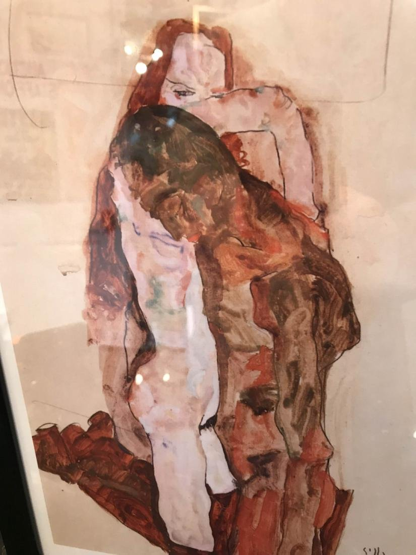 Erotic Watercolor Print of a Nude Man and Woman - 6