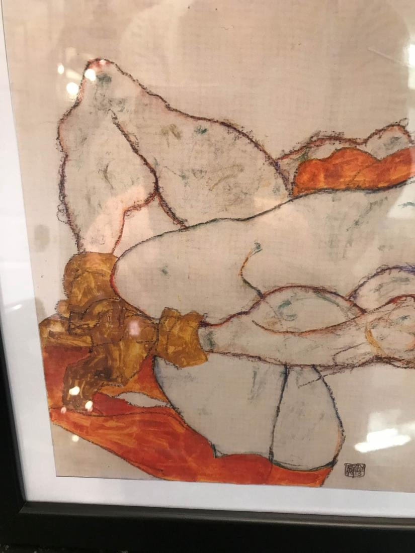 Erotic Watercolor Print of a Nude Man and Woman - 3