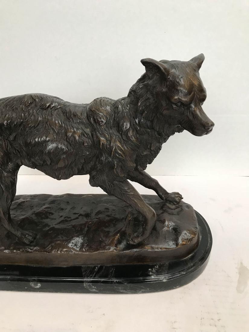 Unique Bronze Statue of Fox on Marble Base - 2