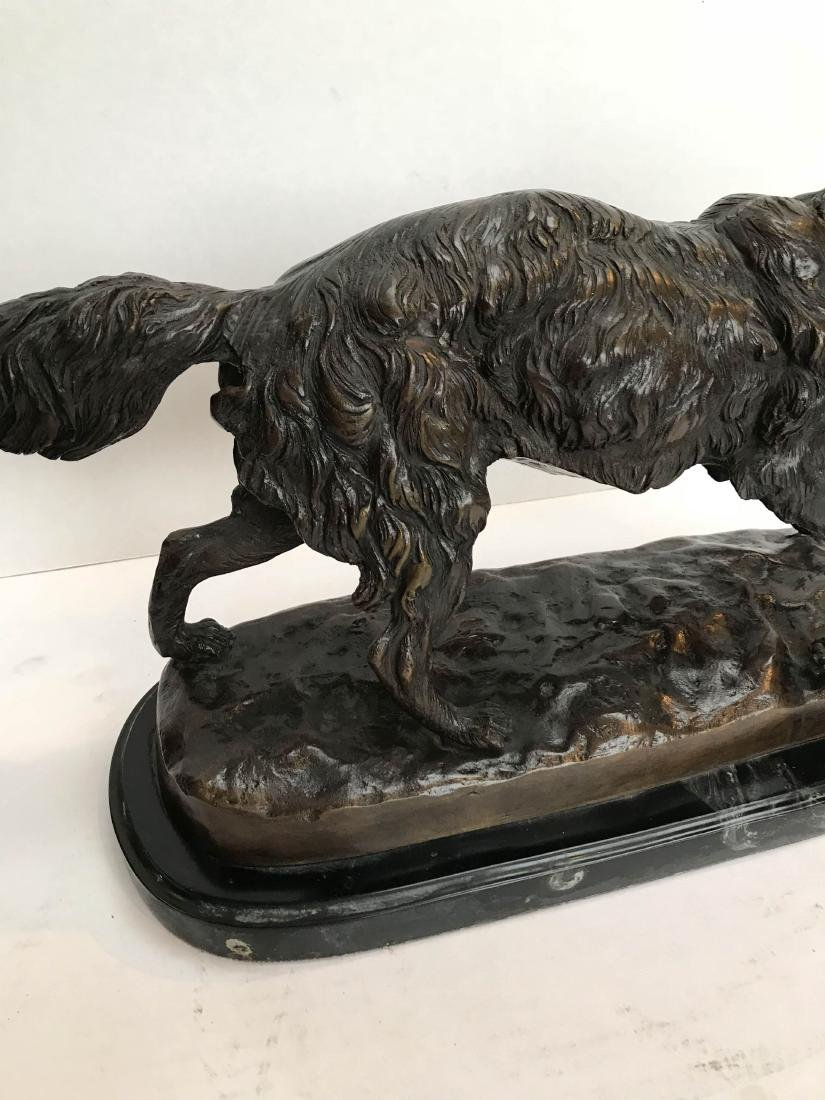 Unique Bronze Statue of Fox on Marble Base - 3