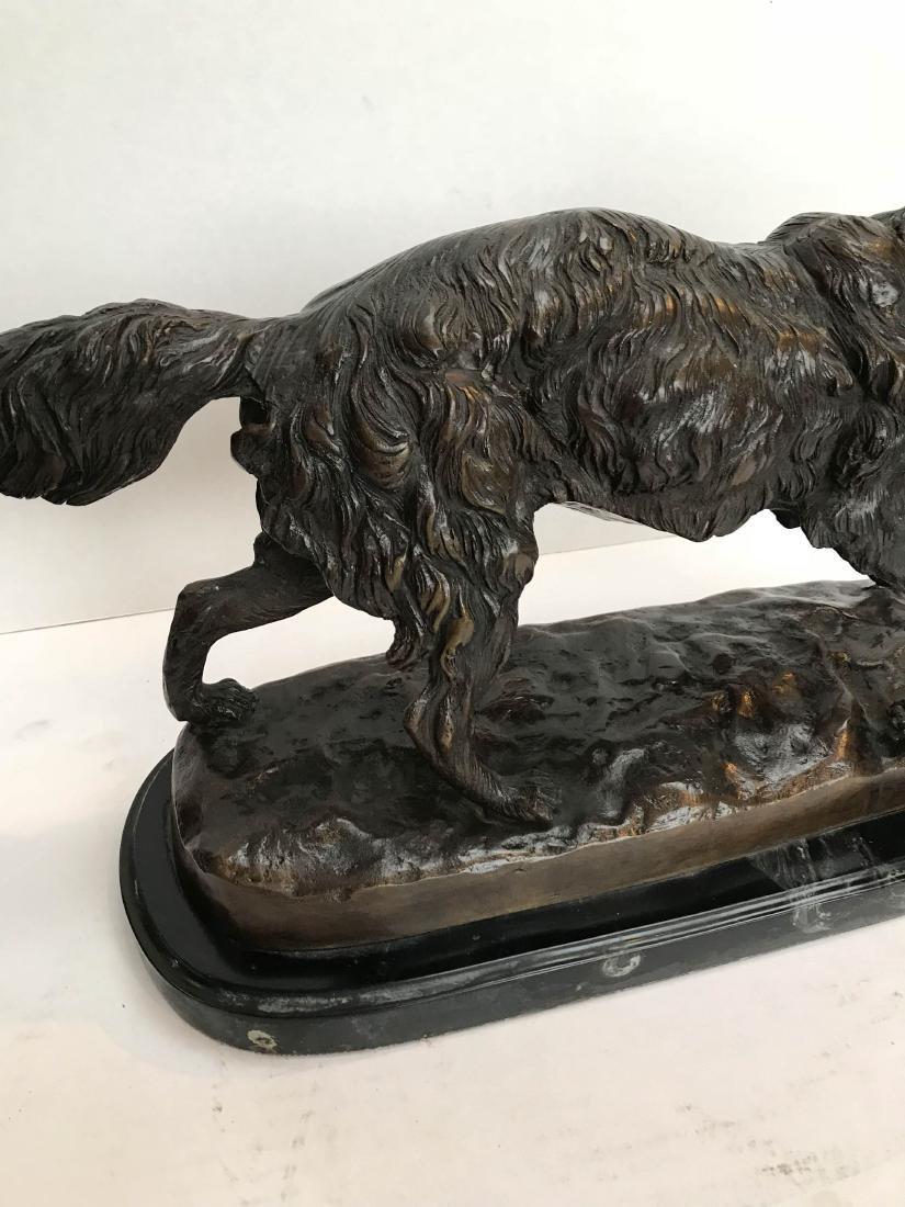 Unique Bronze Statue of Fox on Marble Base - 3