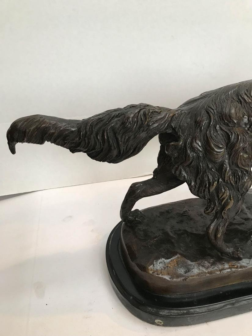 Unique Bronze Statue of Fox on Marble Base - 4