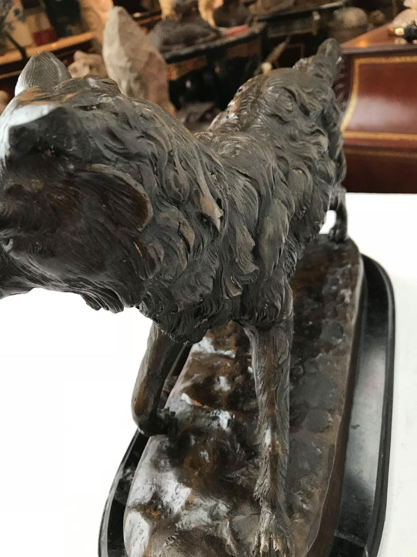 Unique Bronze Statue of Fox on Marble Base - 6