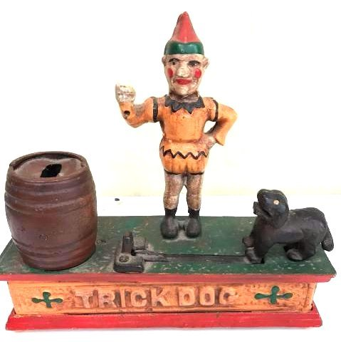 """Trick Dog"" Cast Iron Mechanical Bank"