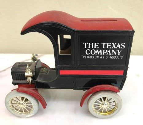 Metal Collectible Car Bank by the Texas Co.