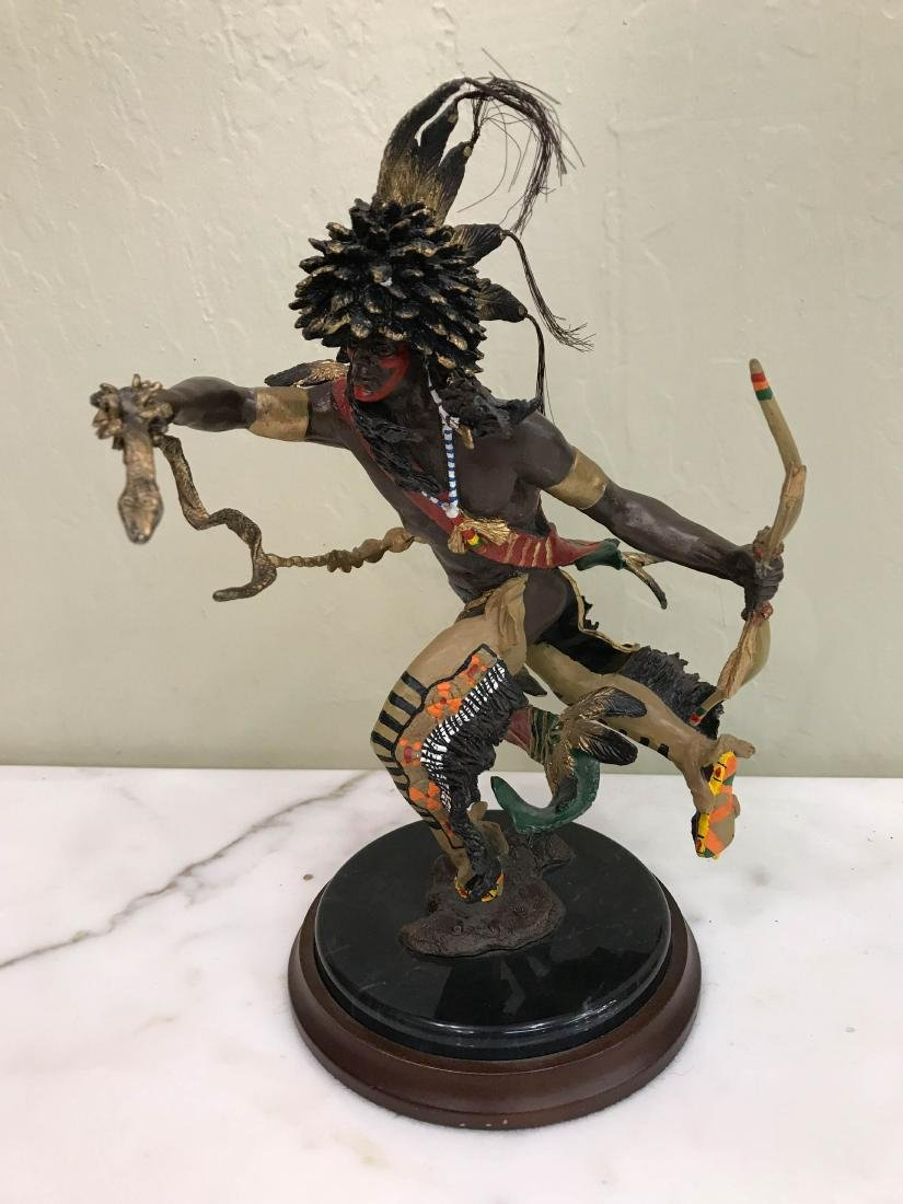 """""""Spirit of the Raven"""" Bronze Statue by Franklin Mint"""