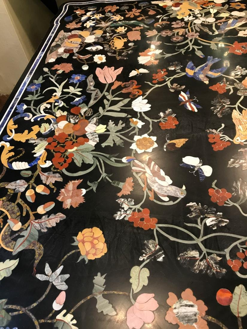 Magnificent Mosaic Table Pietra Dura - 5
