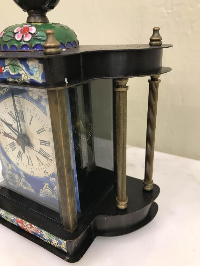 Miniature Cloisonne Mechanical Clock - 3
