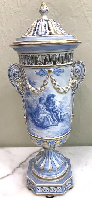 European Porcelain 24k Gold Vase