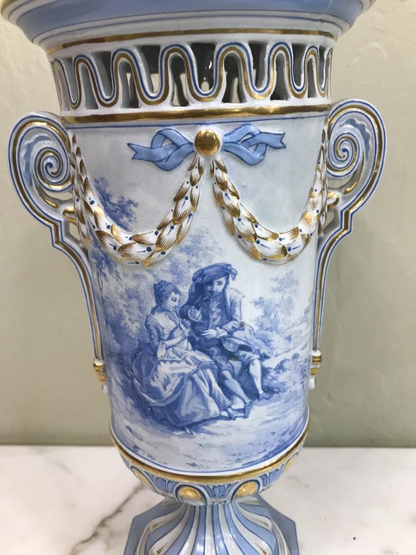 European Porcelain 24k Gold Vase - 2
