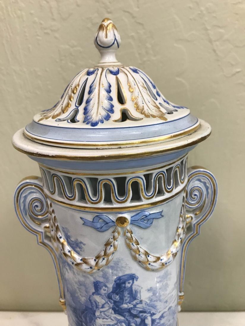 European Porcelain 24k Gold Vase - 3