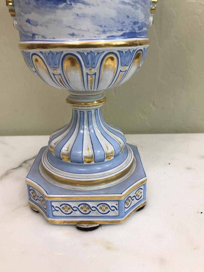 European Porcelain 24k Gold Vase - 4