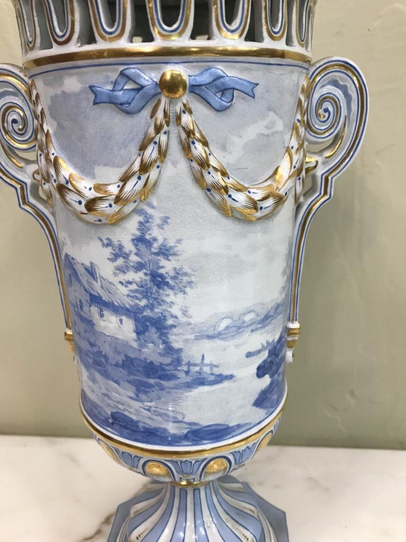 European Porcelain 24k Gold Vase - 5