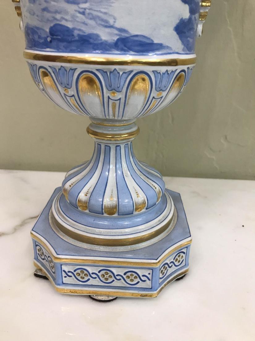 European Porcelain 24k Gold Vase - 6