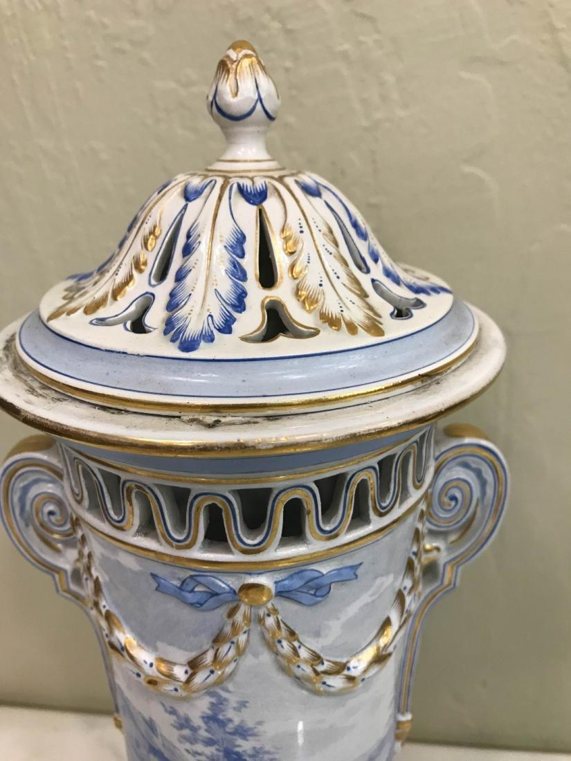 European Porcelain 24k Gold Vase - 7