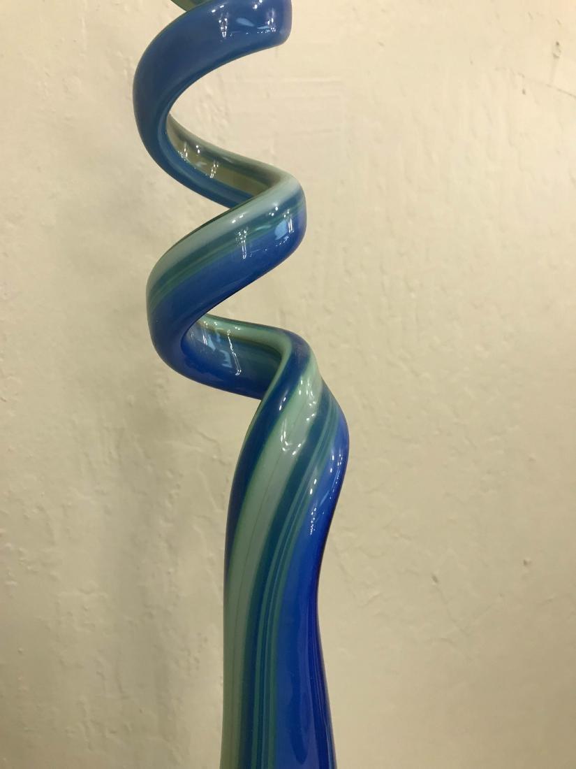 Abstract Hand-Blown Glass Centerpiece - 7