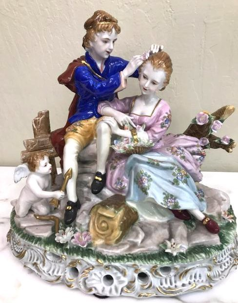 Romantic Porcelain Statue Masterpiece