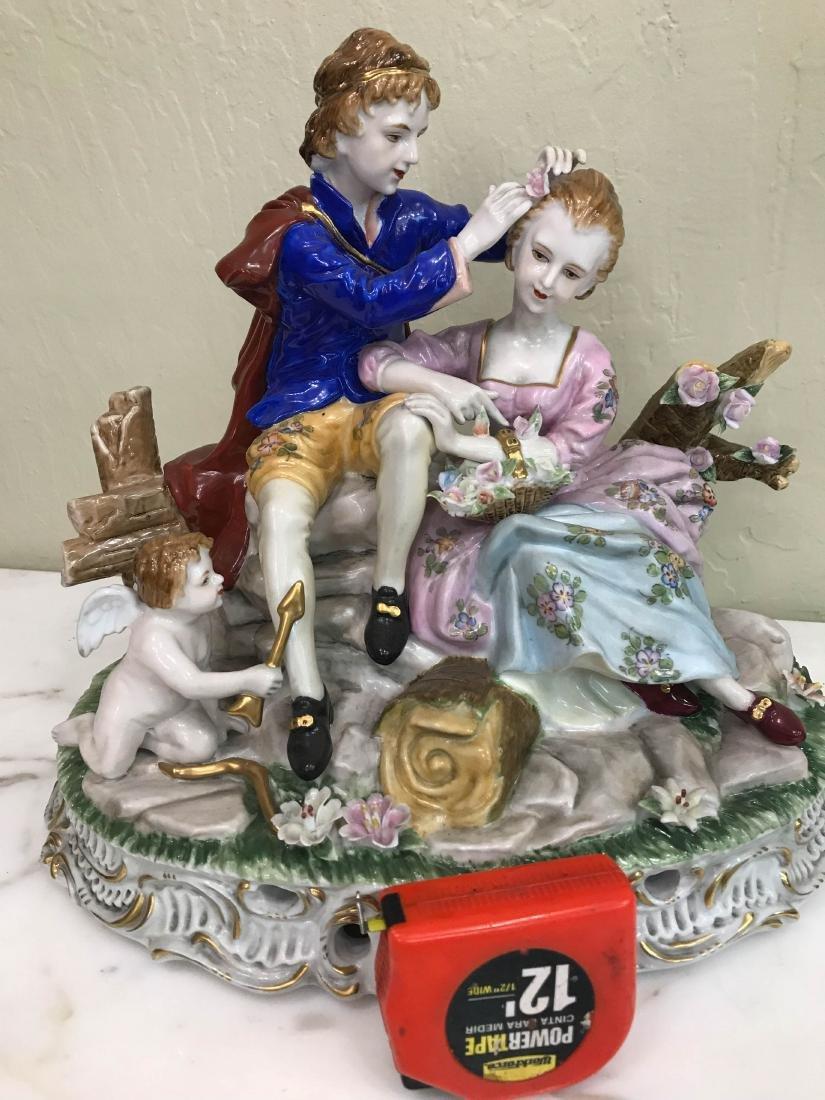 Porcelain Statue of Two Nude Women w/ Seashell - 8
