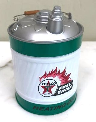Collectible Texaco Metal Can Bank