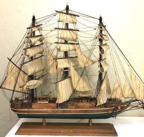 "Antique Wooden Sail Clipper Ship ""1853 Young American"""