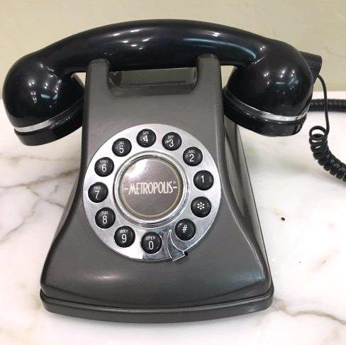Vintage Black Metropolis Rotary Dial Phone